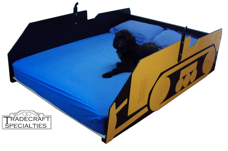 bulldozer full kids bed frame handcrafted children 39 s. Black Bedroom Furniture Sets. Home Design Ideas