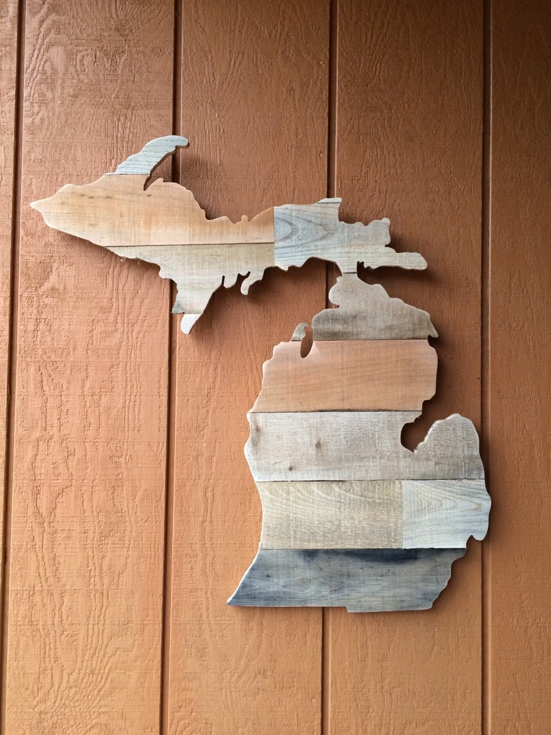 Michigan Wall Art michigan shaped wall art or any state reclaimed pallet