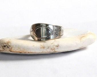 antique spoon ring, danish ring, light ring