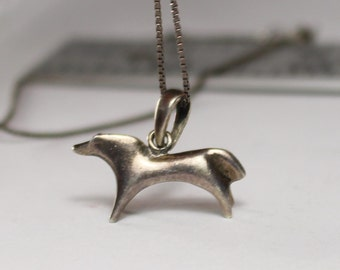 Sterling Silver Dog Pendant and Chain