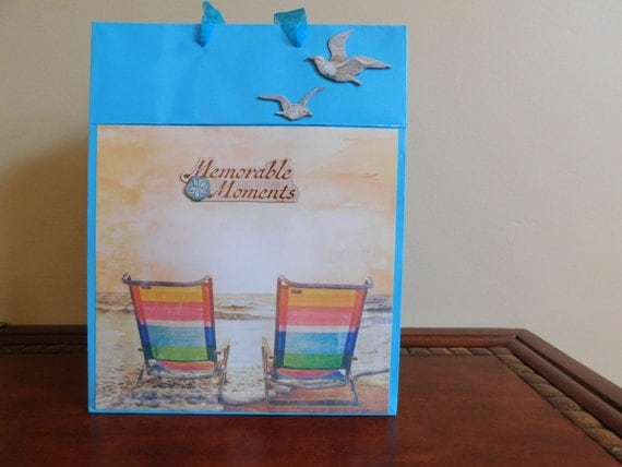 Beach Theme Gift Bag Gift Bag With Handles Beach Chairs