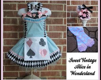 Alice in Wonderland dress tutu outfit