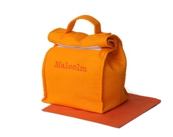 MTO Personalised Insulated lunch bag - Solid cotton