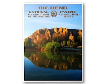 Big Bend National Park Travel Poster & Print