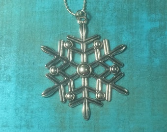 Large Snowflake Pendant necklace