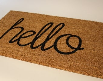 """LARGE Hello Doormat 24"""" x 36"""""""