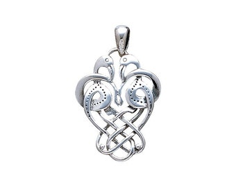Celtic Knotwork Knots Birds Pendant