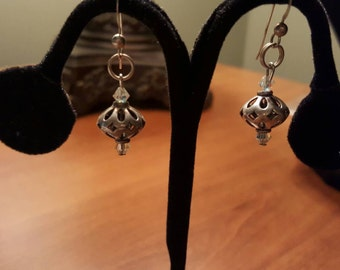 Unique One of a Kind Antique Silver Earrings