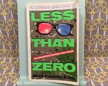 Less Than Zero by Bret Easton Ellis- movie tie in novelization rare paperback book