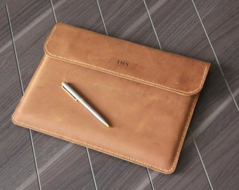 """Personalized Macbook Case made of leather,Air 11"""",Air 13"""", Pro 13"""" Retina portfolio, Macbook Air pro Sleeve,iPad Pro,Surface, leather sleeve"""