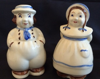 Vintage Shawnee Jack and Jill Large Salt and Pepper Shakers