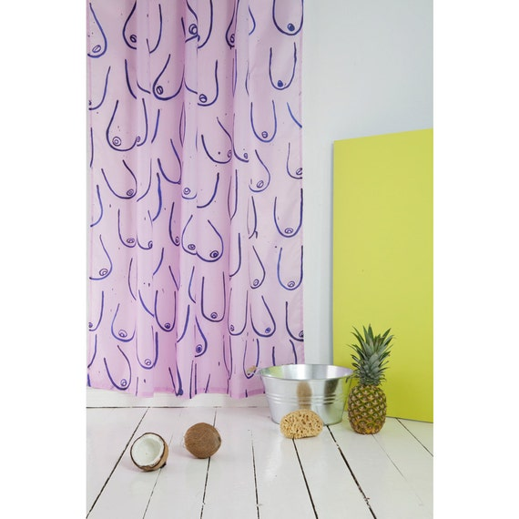 "shower curtain ""Summer of Fun"" by bermuda x Kottie Paloma"