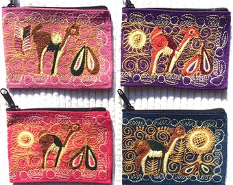 Handmade Alpaca Embroidered Coin Purse