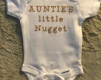 Auntie's little nugget bodysuit