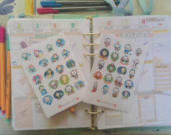 Kawaii stickers P.G.S. series: Penguin