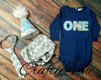 Boys cake smash outfit with matching shirt