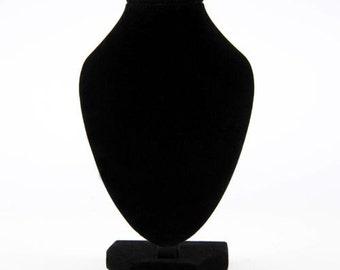 "10"" Black Velvet Mannequin Necklace Jewelry Display storage Stand Holder Decorate Pendant Bust dressmaking showcase"