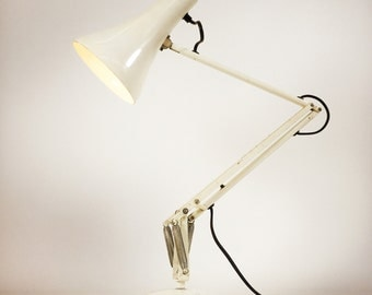 Anglepoise adjustable lamp.