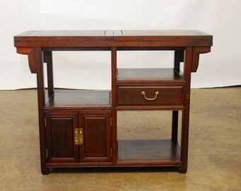 Chinese Rosewood Buffet Serving Table