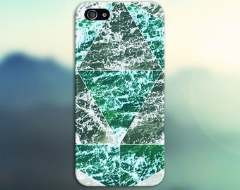 Geometric Green Waves x Beach Foam Phone Case for iPhone 6 6 Plus iPhone 7  Samsung Galaxy  & s7 and Note  S8 Plus Phone Case, Google Pixel