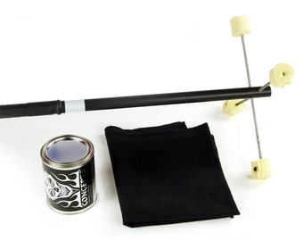 Fire Dragon Staff, Standard with Kevlar Wick, Quart Dip Can, Fire Blanket - Trick Concepts