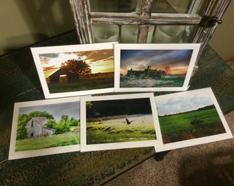 Set of 1, 6, or 12 Scenic Photography Choose your Photos!!