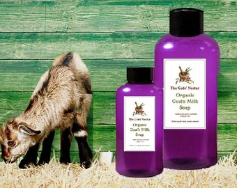 5 oz All Natural Goats Milk with Shea Butter Body Wash / Shower Gel 7Moisturizing! Organic Ingredients