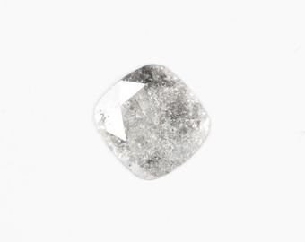 Grey faceted diamond slice - cushion shape