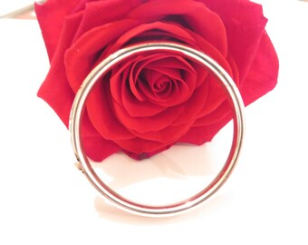 Beautiful SS Baby Bangle / Etched Flower Design