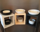Oil Burner - Timber & Ceramic Melts Oil Burner by Breeze Melts