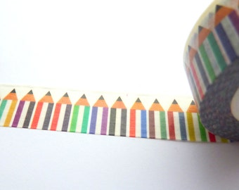 Pencils Washi Tape 15mm x 10m