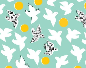 Flock Turquoise- Glint by Cloud9 Fabrics Cotton Fabric Fat Quarter