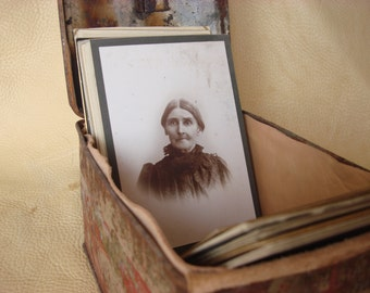 Vintage Cabinet Cards With Union Leader Tobacco Tin