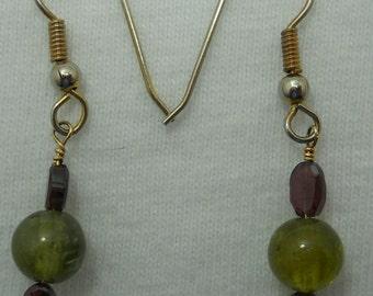 Garnet Earrings # 223