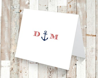 Set of 12 or 25 PERSONALIZED Nautical Stationary