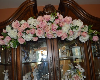Wedding Arch, Archway Swag, Wedding Ceremony Swag, Arbor Arch, Church Ceremony Swag,  Floral Arch, Pink Arch, Floral Arbor