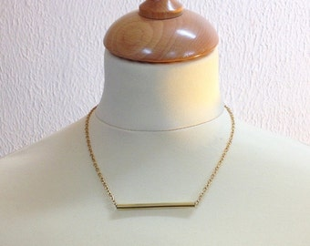 Straight pipe necklace