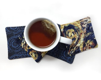 Doctor Who Exploding TARDIS Van Gogh Coasters - Set of 4