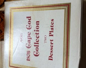 """Avon Cape Cod Dessert Plates 7"""" 2 in box"""