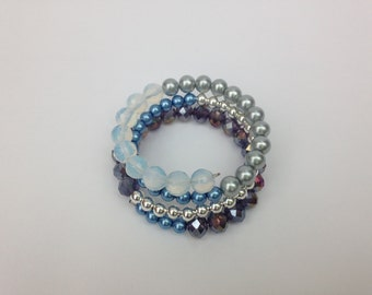 Pale Blue Bead Bracelet
