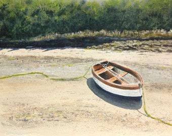 Boat, Solva Harbour, Watercolour Original