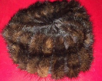 Gorgeous Vintage GWENN PENNINGTON Exclusive Brown MINK Hat