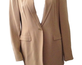 Jones New York Beige Blazer / Jacket (Size 8)