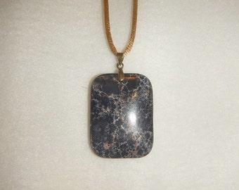 Black Sea Sediment Jasper & Pyrite pendant (JO364)