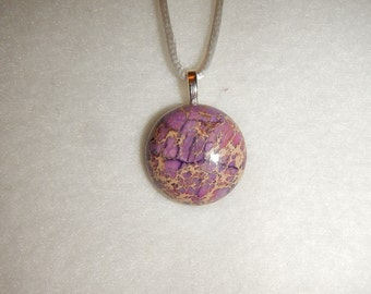 Small Purple Sea Sediment Jasper pendant necklace (JO162)