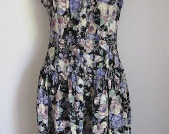 Vintage Floral Spring Dress