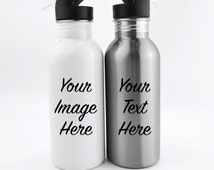 Custom Image or Text Stainless Steel Water Bottle, Stainless Water Bottles, Custom Images, Custom Gifts, Stainless Bottle, Water Travel Cups