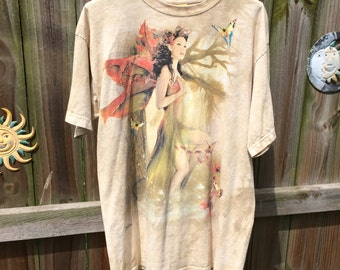 TIEDYE OVERSIZED TSHIRT, fairy/wood nymph/butterfly/elf/pixie dust