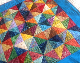 Baby Quilt, Boho Quilt, Wall Hanging