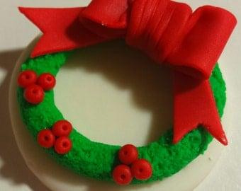 Christmas reef cupcake topper